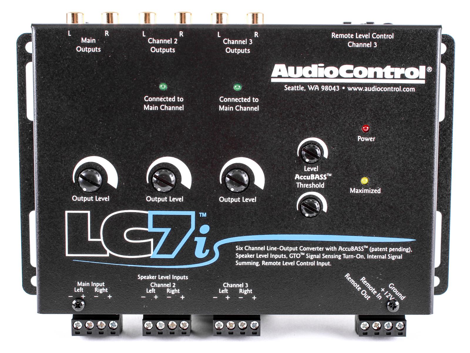 audiocontrol lci  channel   converter  accubass  subwoofer control