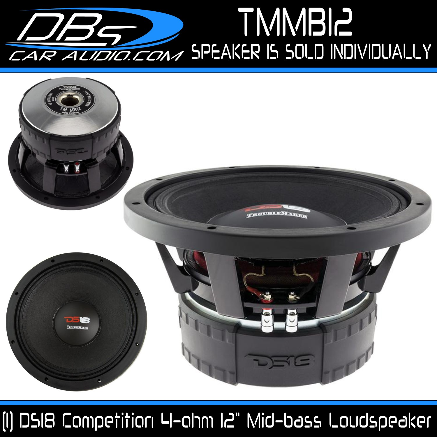 Ds18 Tmmb12 2000w Rms 3750w Max 12 Midbass Woofer With A Single 4 Coil Device And Speaker Using On Wiring Speakers Dual Voice Quick View