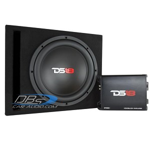 "DS18 BP110 Bass Package 10"" Subwoofer, 600W Amplifier, Installation Kit and MDF Ported Box"