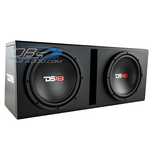 "DS18 BPX210A Bass Package Dual 10"" Subwoofer, Built-in 1,200W Amplifier, Installation Kit and MDF Ported Box"
