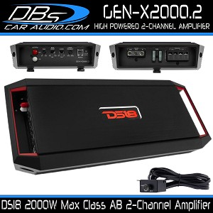 DS18 GEN-X2000.2 2,000W Max 2-Channel Amplifier