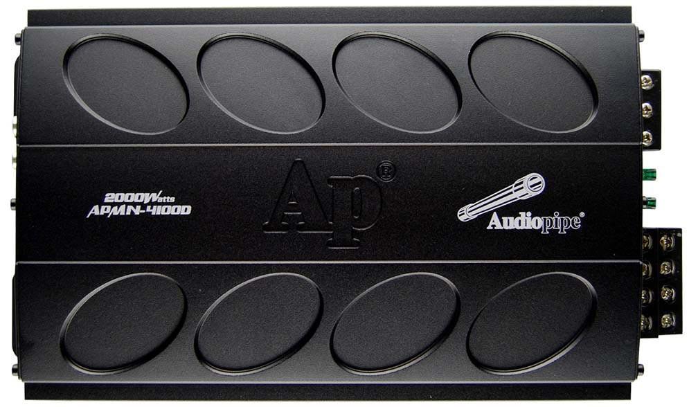 AUDIOPIPE APMN-4100D 2,000W Max Class D 4-Channel Amplifier