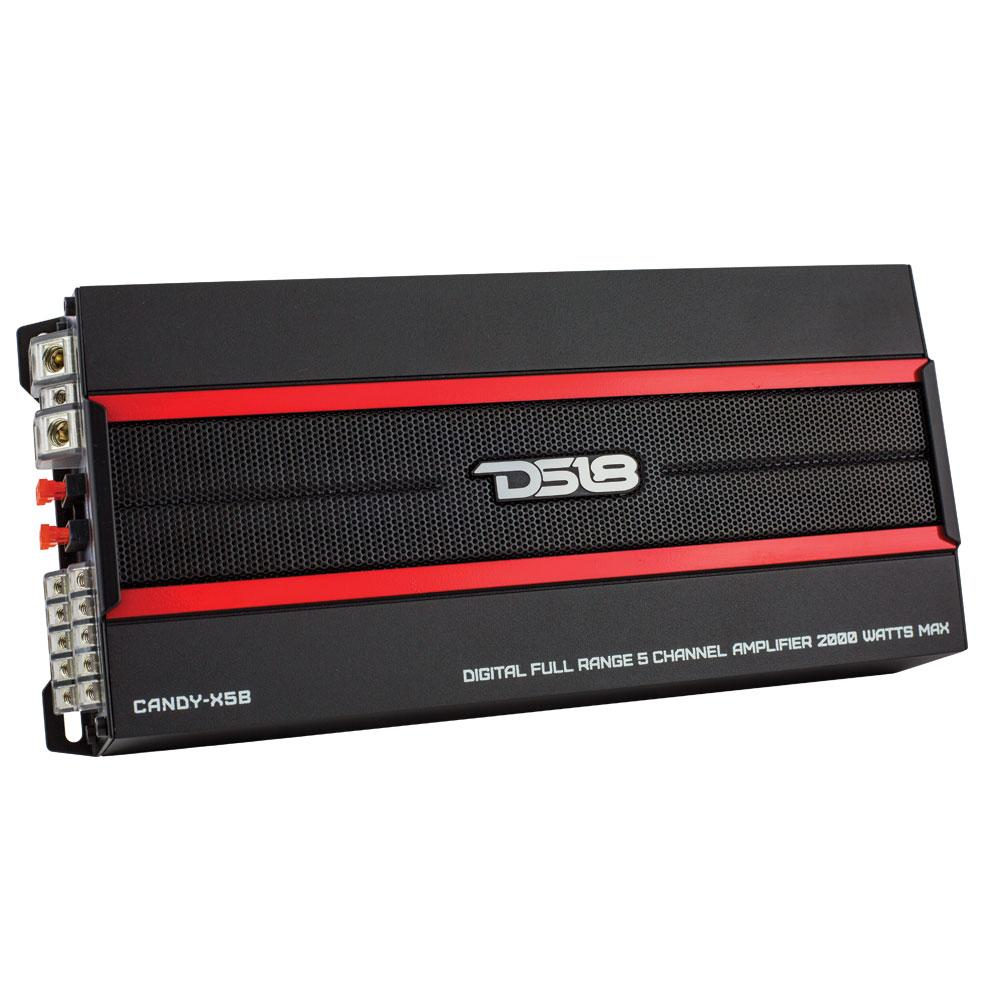DS18 CANDY-X5B 2,000W Max Cl D 5-Channel Amplifier on