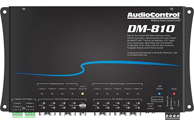 DM-810 8 Input & 10 Output DSP Processor - AudioControl