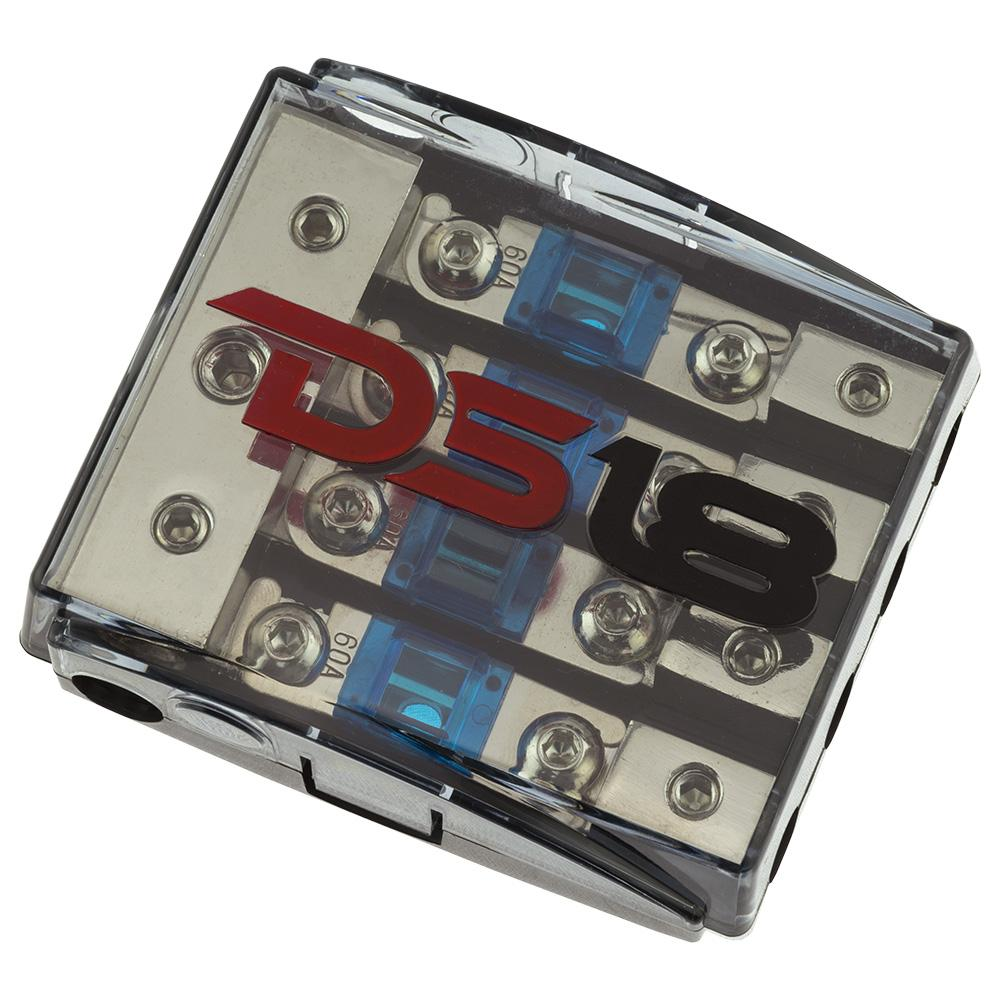 DS18 FD1024/48AFS-60A AFS Mini ANL Fuse Holder Distribution Block 1x 0GA 2x 4GA In - 4x 8GA Out with 60A Fuses