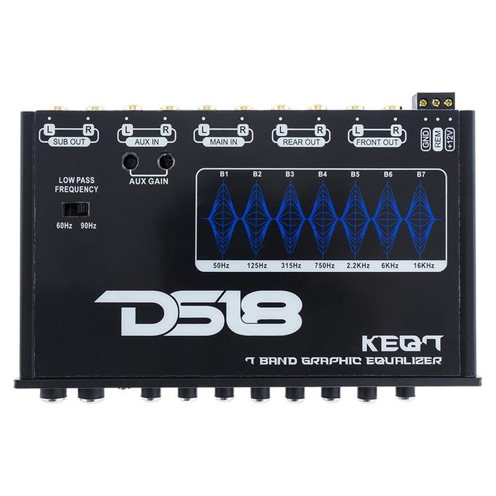 KEQ7 In-dash 7-Band Graphic Equalizer - DS18