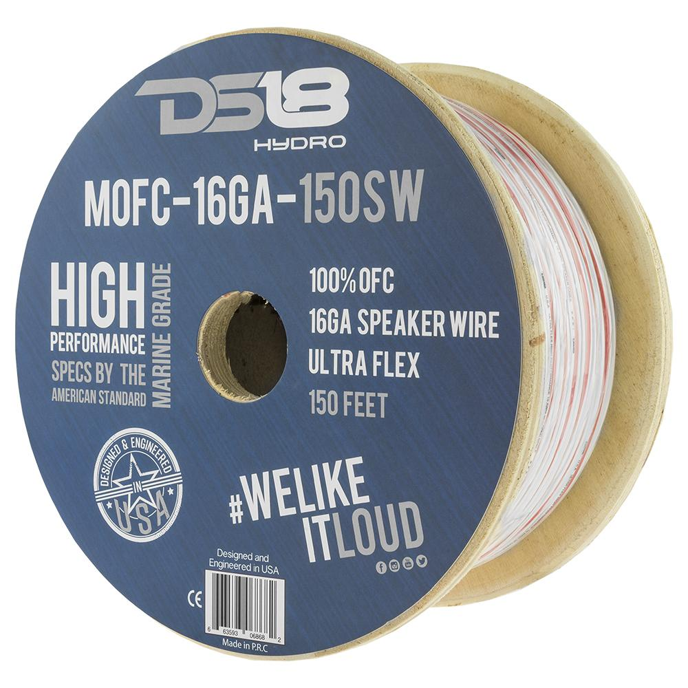 DS18 150ft Marine Grade 16 Gauge 100% Copper OFC Speaker Wire