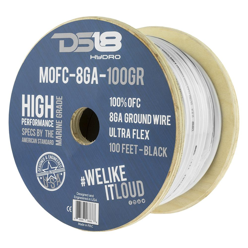16 Gauge 100FT BLACK OFC 100/% Copper Marine Car Home Audio Speaker Cable Wire