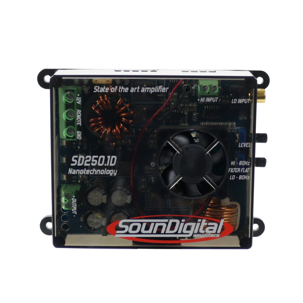 Soundigital SD250.1D 250W Rms Mini Fullrange Mono Amplifier