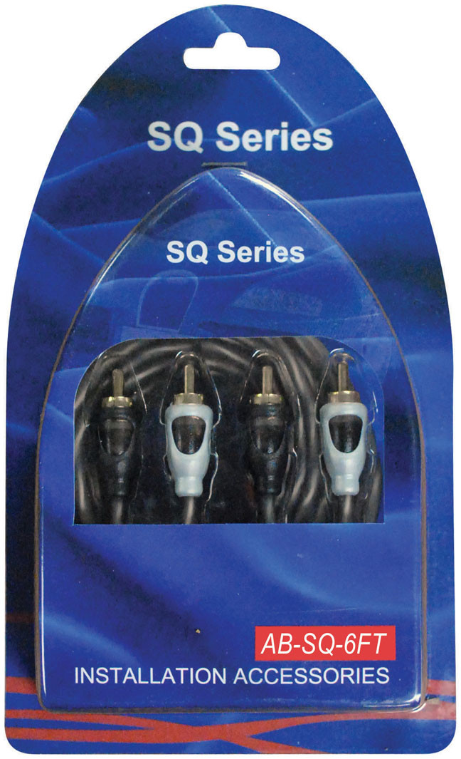 American Bass SQ6FT Premium 6ft RCA Cable