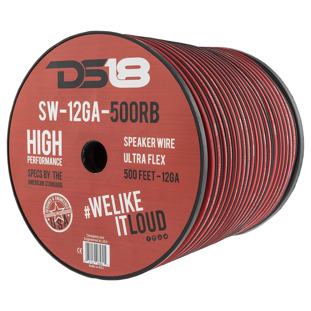 SW-12GA-500RB 12 Gauge Speaker Wire, 500ft Roll - DS18