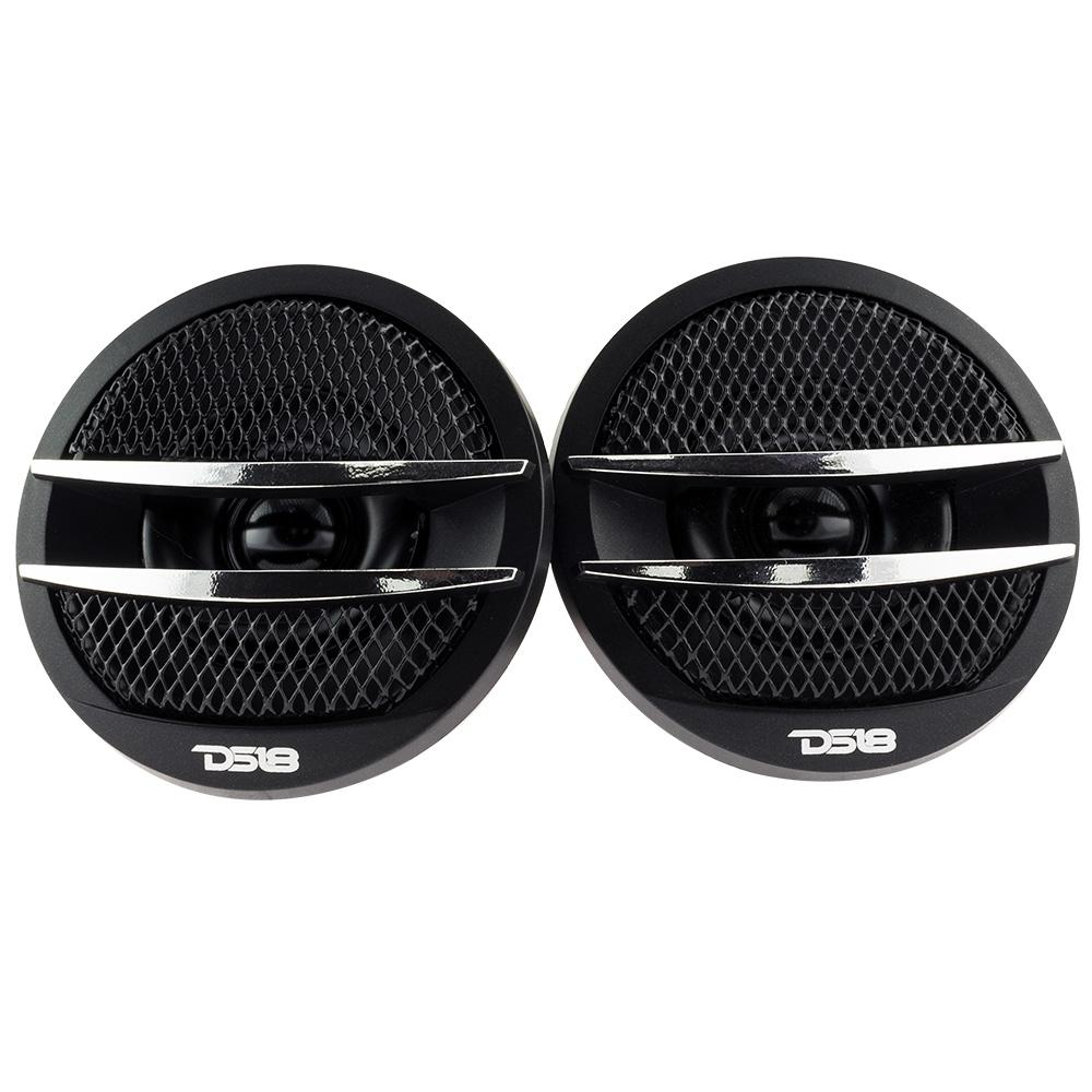 DS18 TX1S 200W Max 4-ohm Silk Dome Tweeter Set with Crossovers