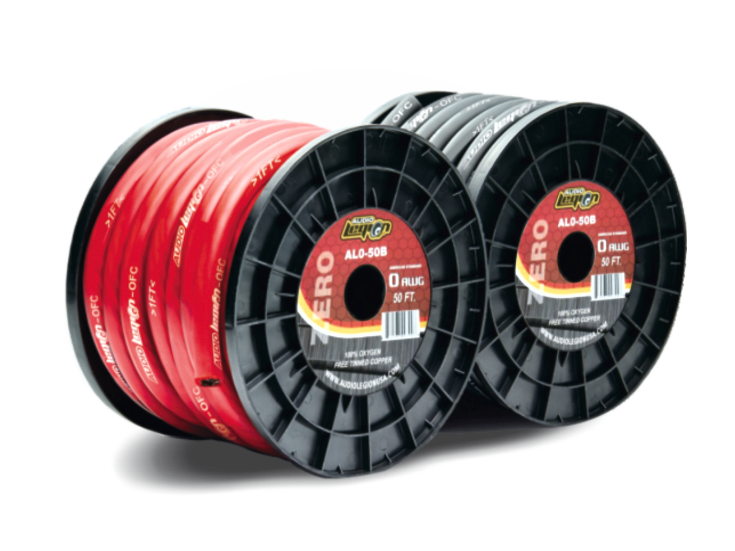 4 Gauge 100% Copper Power & Ground Wire, 100ft Roll - Audio Legion