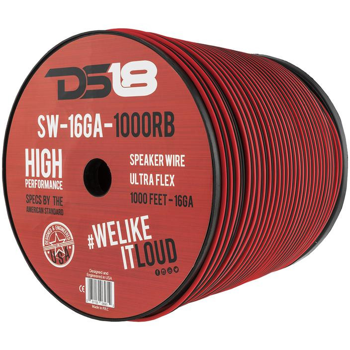 SW-16GA-1000RB 16 Gauge Speaker Wire, 1,000ft Roll - DS18