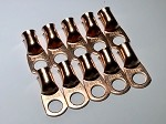 1/0 Gauge Copper Ring Terminal Lug with 1/2