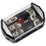 DS18 DB-3ANL-150A ANL Fused Distribution Block 1x 0GA In - 3x 4GA Out with 3x 150A Fuses