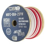 DS18 25ft Marine Grade 1/0 Gauge 100% Copper OFC Power Wire