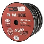 DS18 PW-4GA-100BK 100ft Ultra Flex CCA 4 Gauge Black Ground Cable