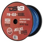 DS18 PW-4GA-100BL 100ft Ultra Flex CCA 4 Gauge Blue Power Cable