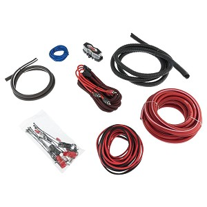 DS18 AMPKIT4 4 Gauge CCA Amplifier Wiring Kit with RCA Cables on