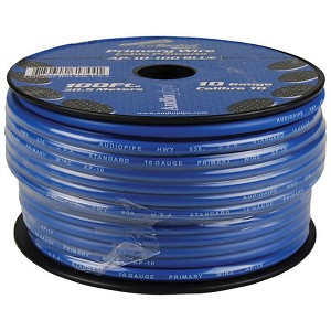AP-10-100BL 10 Gauge Blue Primary Wire, 100ft Roll - Audiopipe