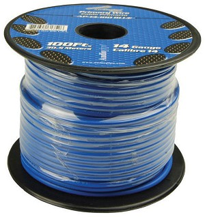 AP-14-100-BL 14 Gauge Blue Primary Wire, 100ft Roll - Audiopipe