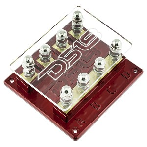 DS18 FH4W 4-Way ANL Fuse Holder with Red LED Power Light